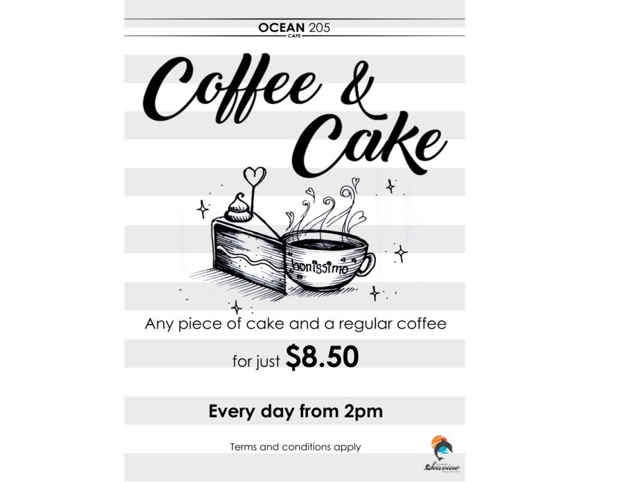 Try our Coffee & Cake special! Every day from 2pm