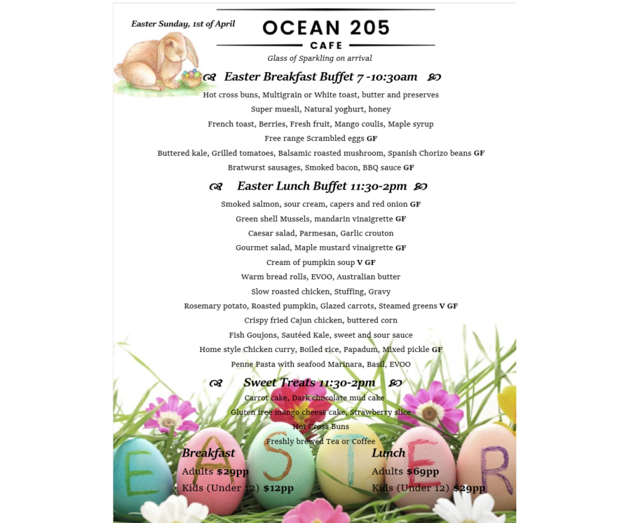 Easter Sunday at Ocean 205