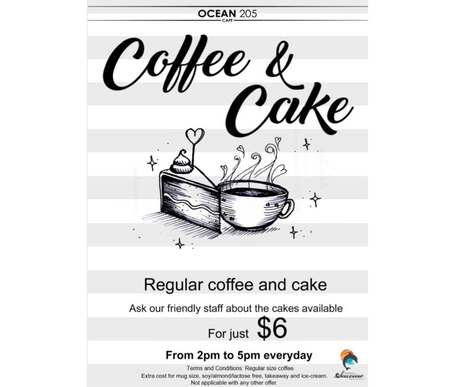 Enjoy Coffee & Cake at Ocean 205!